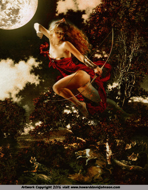 artemis diana moon goddess chase hunt greek myth