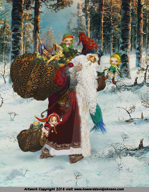 saint nick elf elves santa father christmas