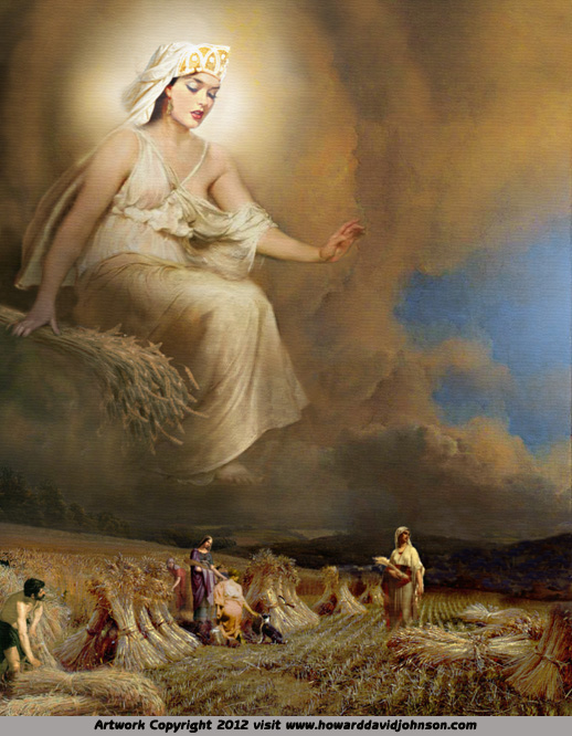 goddess art painting of greek myth