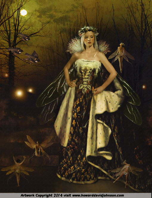 Faerie tales fairy gown dancing fine art
