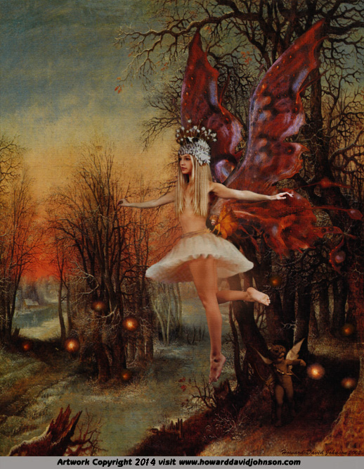 faerie fairy twilight illustration ballarina