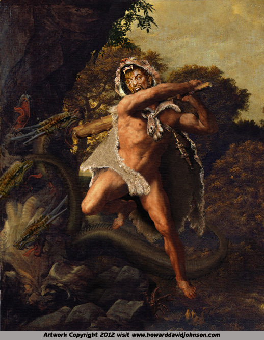 hercules greek myth fantasy art paintings of legend
