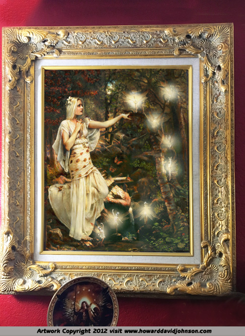 fairy painting oil on canvas Handpainted beautiful goddess Oil Painting On Canvas Wall Art