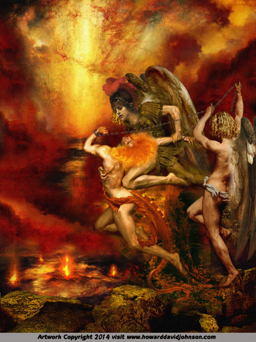 Into The Lake of Fire (Satan thrown into Hell by Michael)