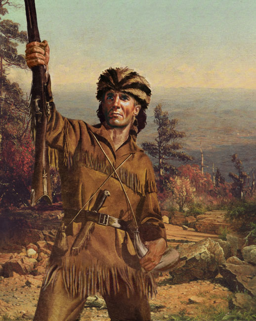 frontiersman scout historical hero davy crockit portrate