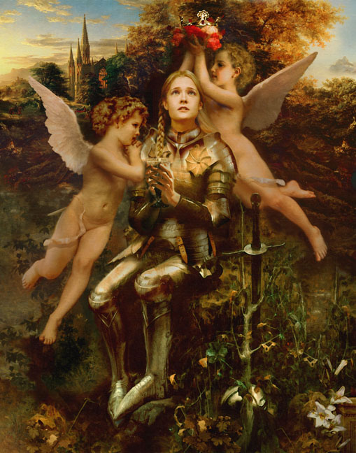 historical fiction fine art joan arc puty angel painting