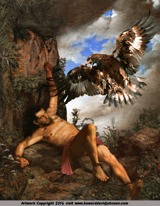 prometheus bound greek mythology zeus eagle