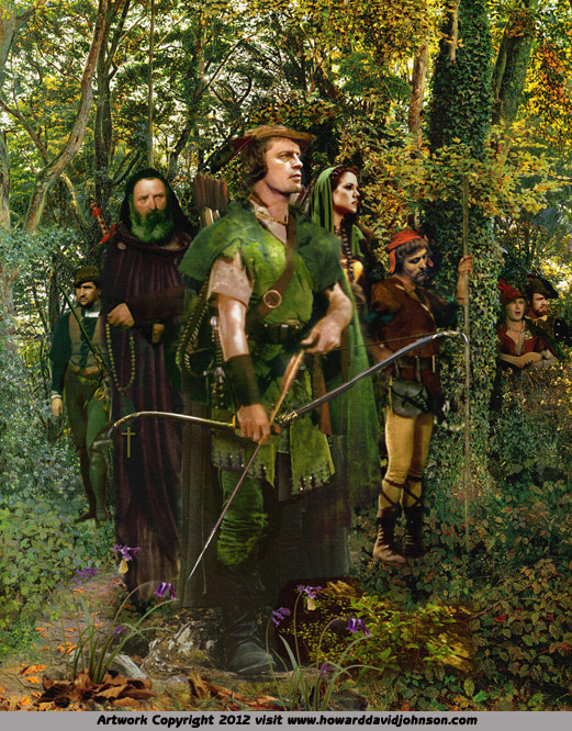 fantasy art legend of robin hood