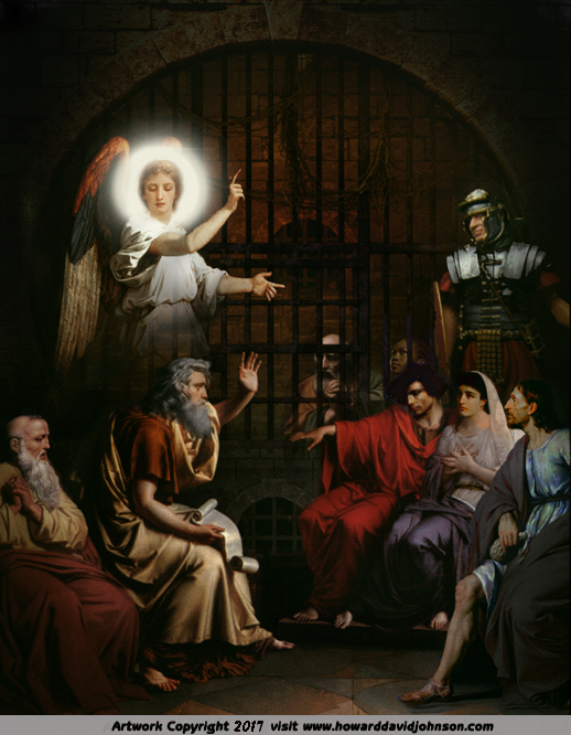 St Paul Preaching in Prison - Angel Art