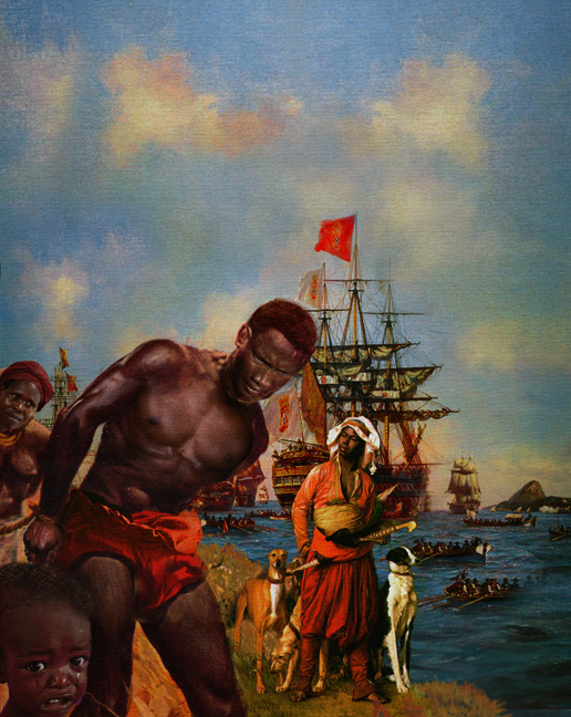 historical painting african slave traid