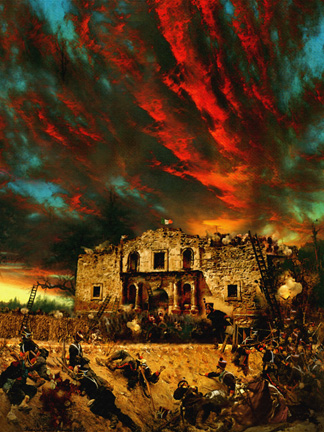 painting historical art alimo texas revolution