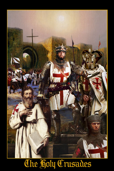 great crusade templar king england holy land painting
