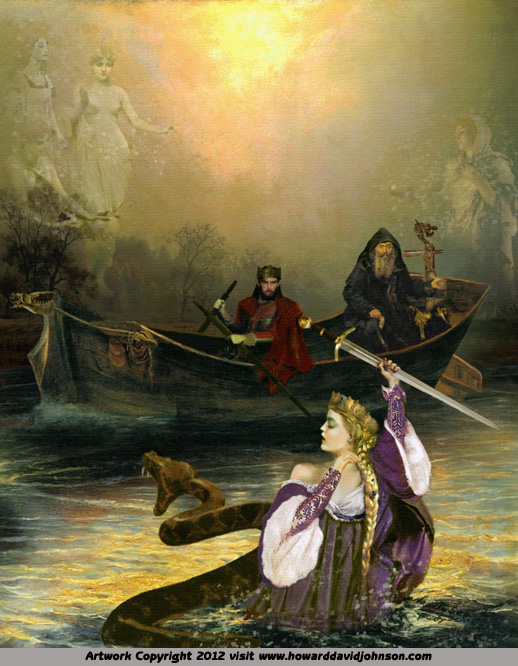 The Lady in the Lake from the King Arthur Legends
