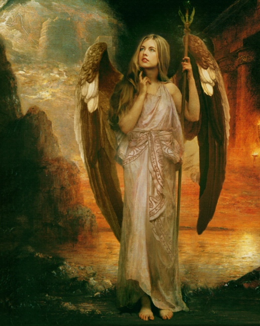 fantasy art angelic painting harrold messenger