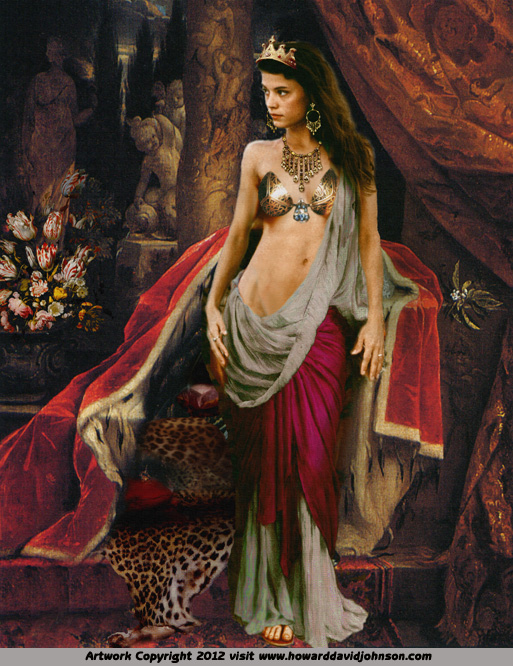 egiption queen cleopatra painting
