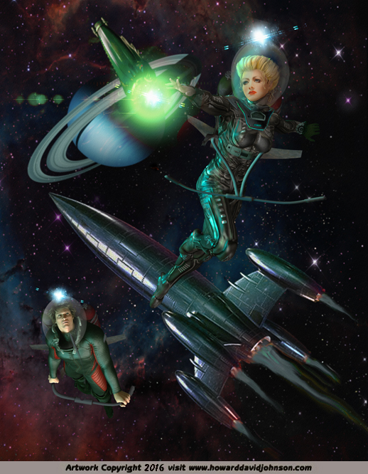 Science Fiction And Fantasy Art Work Illustrations By