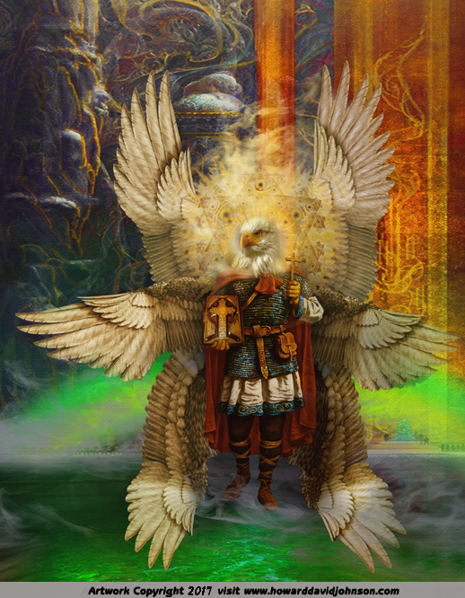 The Eagle Headed Seraph (beast living creature seraphim throne room of Heaven)