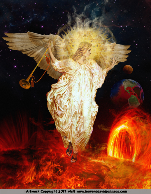 The Fourth TRUMPET heralds destruction of sun moon and stars