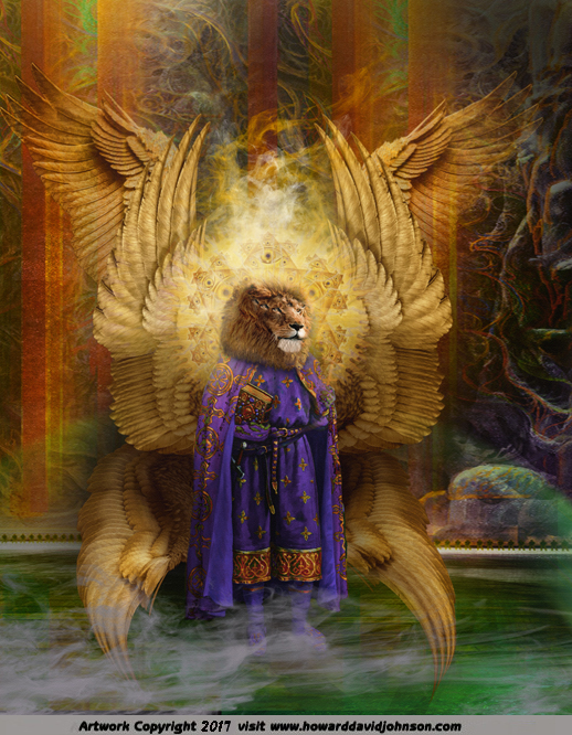 The Lion Headed Seraph (seraphim beast living creature throne room of Heaven)