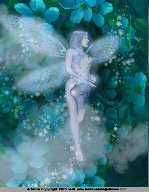 blue fairy flower fairy