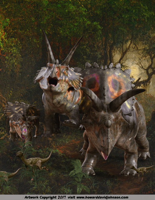 Triceratops Painting