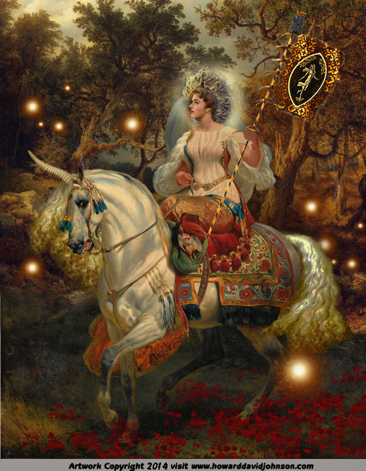 Faerie queene fairy painting unicorn