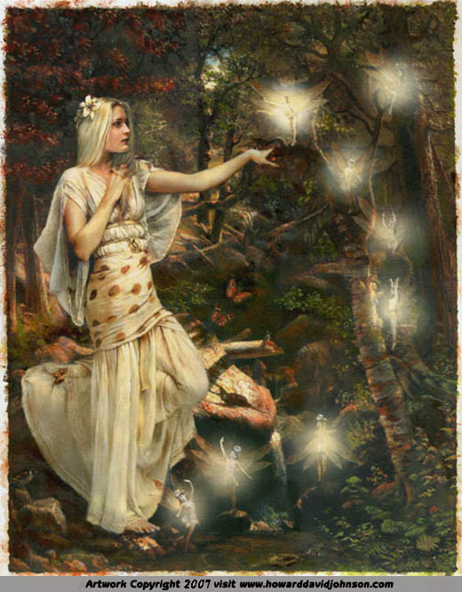Fairy Painting oil on canvas Midsummer night's dream Shakespeare